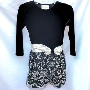 Rare Editions Black and Silver Holiday Dress